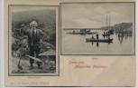 AK Missunde Gruss aus Missunder Fährhaus Fähre Heine Jensen b. Kosel Eckernförde 1900 RAR