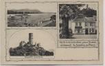 AK Godesberg Burgruine Schiff Linde Gasthaus b. Bonn 1920