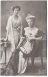 Wohlfahrts-Postkarte Kaiserin Auguste Viktoria von Preussen mit Tochter 1910