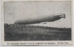 AK Göppingen Der verunglückte Zeppelin II auf der Unfallstelle 31. Mai 1909 RAR