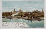 AK Mainz Ortsansicht mit Dampfer 1912