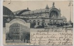 AK Frankfurt am Main Hotel Continental gegenüber dem Hauptbahnhof 1898