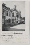 AK Gruss aus Karlsruhe Hotel-Restaurant der Brauerei Sinner Grünwinkel Friedrichshof 1903