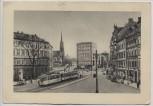 AK Chemnitz Falkeplatz mit Straßenbahn 1930
