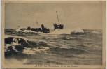 AK Deutsches Kriegsschiff T 158 bei Windstärke 10 in der Ostsee 1925