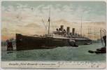 AK Dampfer Fürst Bismarck im Hamburger Hafen 1905