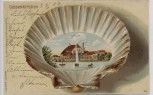 VERKAUFT !!! AK Gelsenkirchen Parkhaus mit geprägter Muschel Kunstanstalt Rosenblatt 1903