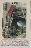 AK Eppstein im Taunus Eingang zur Ruine mit Menschen 1902