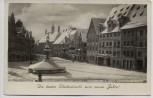 AK Foto Landsberg am Lech Herkomerstrasse mit Brunnen im Winter 1936