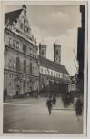 AK Foto München Michaelskirche und Frauentürme viele Menschen 1925