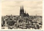 AK Köln Dom mit zerstörter Innenstadt 1951