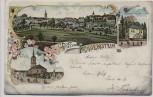 AK Litho Gruss aus Frauenstein Erzgebirge Ortsansicht Parkschlösschen Kirche 1901 RAR
