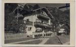 AK Marquartstein Oberbayern Cafe Pension Schloßberg Männer in Trachten 1935 RAR