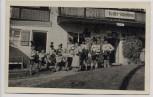 AK Marquartstein Oberbayern Cafe Pension Schloßberg Männer in Trachten Bierkrug 1935 RAR