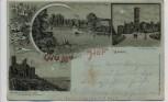 AK Litho Grüsse aus Hof an der Saale Ruine auf dem Labyrinthberg Bayern 1901