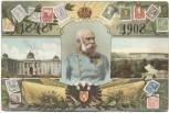 AK Adel Wien 60-jähriges Regierungsjubiläum Kaiser Franz Josef Briefmarkenmotive 1908