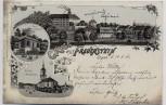 AK Litho Gruss aus Frauenstein Erzgebirge Parkschlösschen Kirche 1901