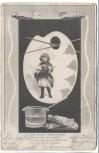 AK Kind in Farbpalette mit Pinsel und Farbe Gedicht 1904