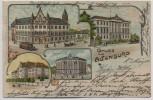 Litho Gruss aus Altenburg neue Post Ministerium Seminar Technikum 1902