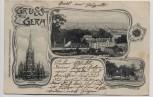 AK Gruss aus Gera Ortsansicht Johanniskirche Küchengarten 1903