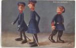AK Fritz Hildebrandt Tuck's Postkarte Unter uns Leutnants 1911