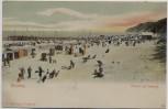 AK Ostseebad Misdroy Międzyzdroje Strand und Seesteg Pommern Polen 1910