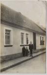 AK Foto Roßla Hausansicht mit Menschen Südharz 1926 RAR