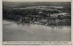 AK Pieskow (Mark) Fliegeraufnahme vom Scharmützelsee mit Kurhaus und Schloss b. Bad Saarow 1936