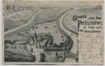 AK Gruss von der Peissnitz bei Halle an der Saale 1900