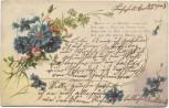 Präge-AK Blumenmotiv mit Gedicht 1903