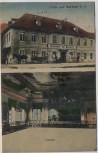 AK Gruss aus Serbitz mit Gasthof und Tanzsaal bei Treben 1920 RAR