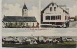 AK Gruß aus Haselbach (Niederbayern) Ortsansicht mit Kirche und Handlung Feldpost 1918 RAR