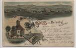 Litho Gruss aus Marienthal bei Zwickau Ortsansicht Kirche Windberg 1900 RAR