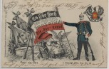 AK Gruss aus Gera 7. Thüring. Inftr. Rgt. No. 96 Soldat Pickelhaube Wappen Fahne Patriotika 1905 RAR