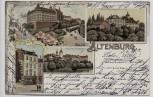 Litho Gruss aus Altenburg Schloss Magdalenen-Stift 1901