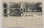 AK Altenburg Gasthaus Paditz Blick auf die Pleisse 1900 RAR