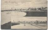 AK Höchst am Main von der Insel und der Schleuse Frankfurt 1906