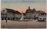 AK Kolin an der Elbe Kolín Marktplatz Böhmen Tschechien 1920