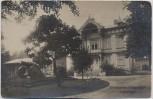 VERKAUFT !!!   AK Foto Schiessplatz Tangerhütte Logierhaus mit Kanone 1920 RAR