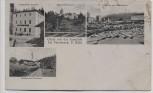 AK Gruss von der Aumühle bei Fürsteneck Hutthurm Restauration Schloss Sägewerk 1910 RAR