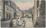 AK Gladenbach Marktstrasse Kinder und Frauen nachcolorisiert 1907 RAR Sammlerstück