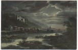 AK Heidelberg von der Ziegelhäuser Landstrasse gesehen bei Mondschein 1908