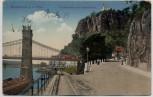 AK Bodenbach a. d. Elbe Děčín Tetschen Schäferwand und Kettenbrücke Böhmen Tschechien 1920