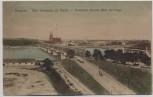 AK Warschau Warszawa Kierbedzia Brücke Blick auf Praga Polen Feldpost 1918