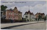 AK Zuckmantel Zlaté Hory b. Teplitz Villenpartie beim Walzwerk Schlesien Tschechien 1943