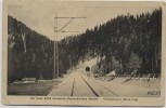 AK Die neue Bahn Garmisch-Partenkirchen - Reutte Klausentunnel  mit Gleis 1922 RAR