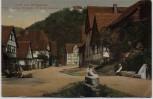 AK Gruß vom Ohmgebirge Wintzingerode Dorfstraße mit Schloß Bodenstein bei Leinefelde-Worbis 1911