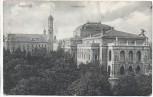 AK Augsburg Stadttheater mit Kirche 1909