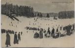 AK Lauscha in Thüringen Wintersport viele Menschen Schlitten 1909 RAR