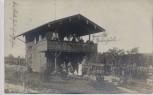 AK Foto Ulm Gartenhaus Holzhaus mit Menschen 1911